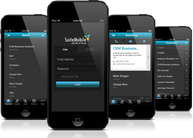 """""""SuiteMobile"""" NetSuite CRM App for iPhone"""